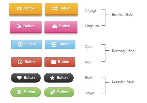 CSS3 3D Buttons