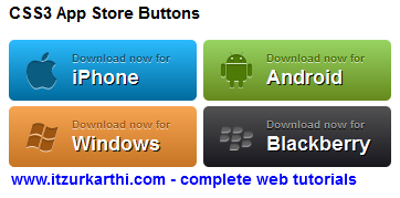 App Store Button using CSS3