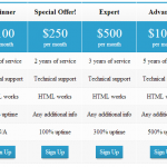 Free Pricing Table