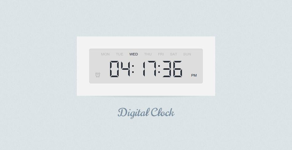 Digital Clock using jQuery & CSS3