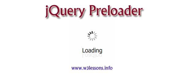 jQuery Preloader for websites