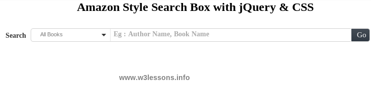 Amazon Style Search Box with jQuery