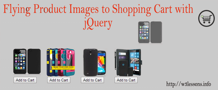 Flying images to Add to Cart