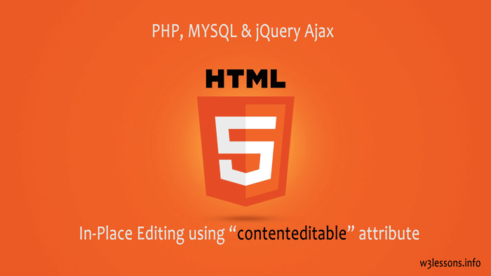 HTML5 Inline Editing with PHP, MYSQL & jQuery