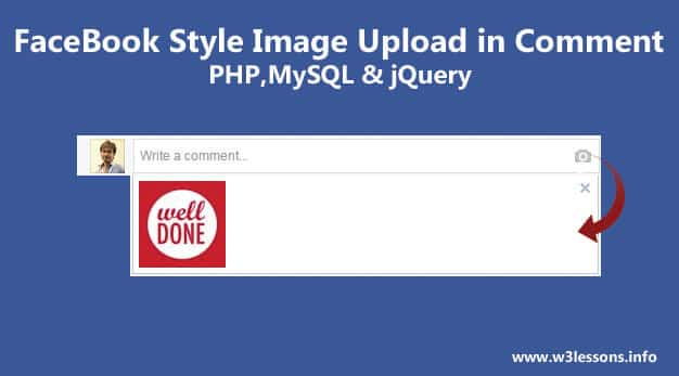 Facebook Style Uploading Picture in Comment using PHP, MYSQL & jQuery