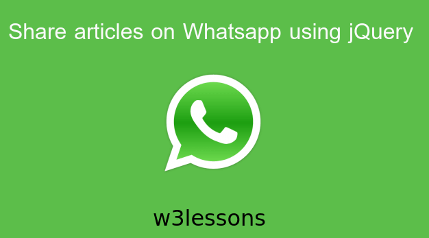 Share Articles on Whatapp using jQuery