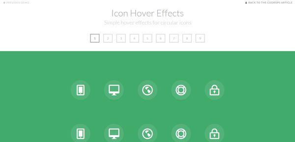 How to create simple icon hover effects