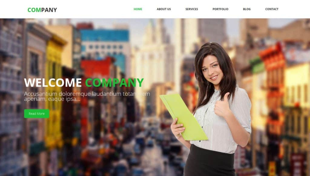 Company - Free HTML Bootstrap Template