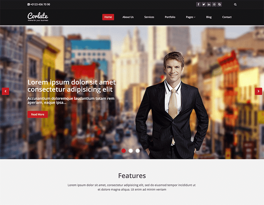 Corlate - Free Responsive Bootstrap Template