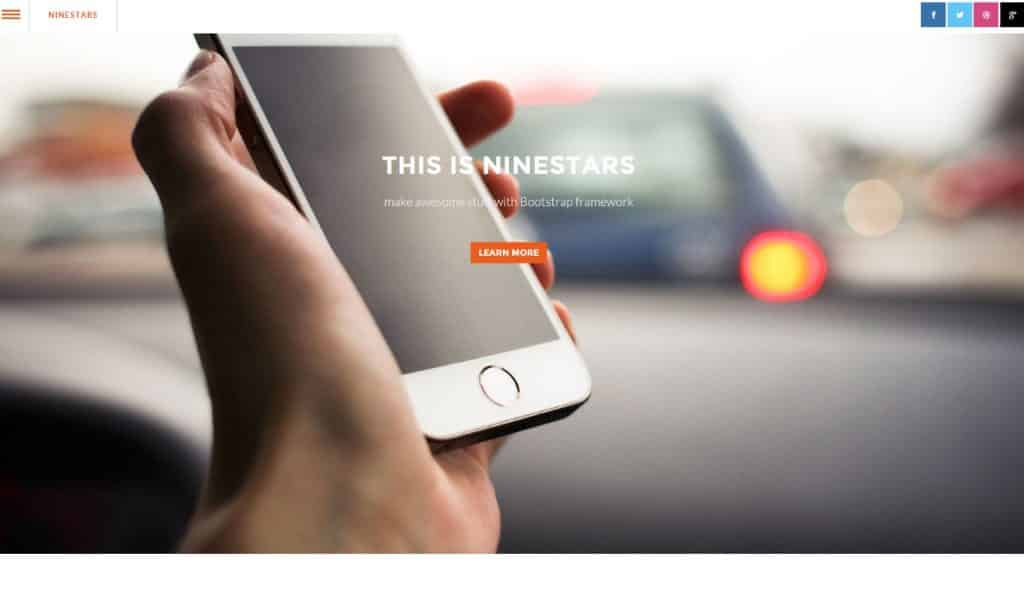 Nine Stars - Single Page HTML5 Bootstrap Template