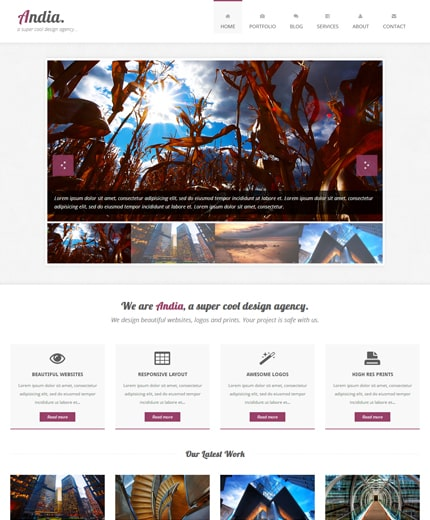 Andia Responsive Template built with Twitter Bootstrap