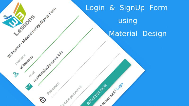 Material Design Login & SignUp Form