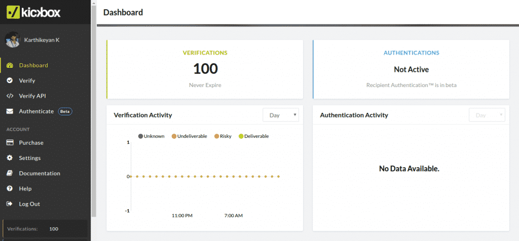 100 free email verifications - Verify Email Address Php